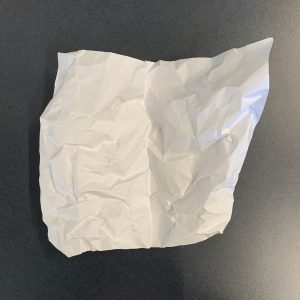 Open crumpled paper